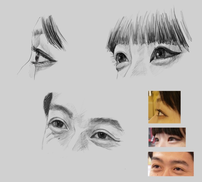 More Eyes, sketched in Procreate on the iPad