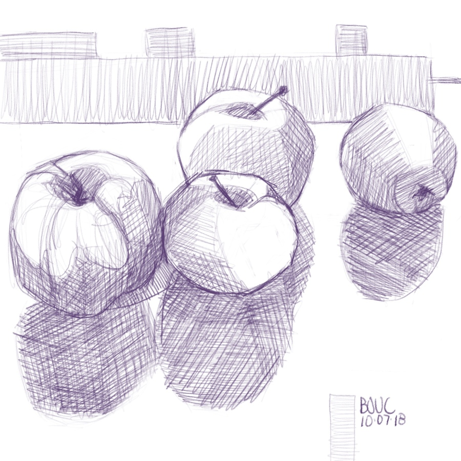 More Apples from Donna's trees in Procreate