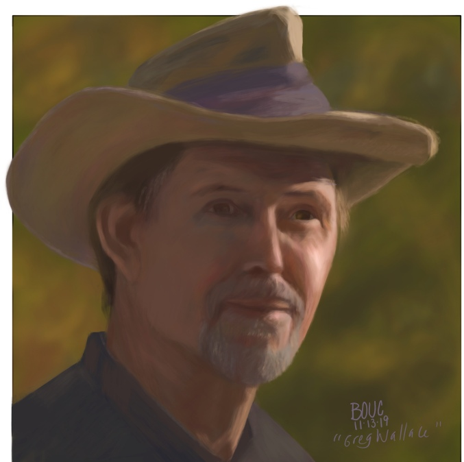 """Facebook """"People You May Know #1"""", Procreate digital painting"""