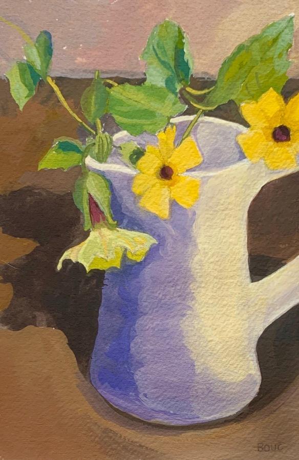 Stolen Vine, Gouache on watercolor paper, 11x8.5 inches