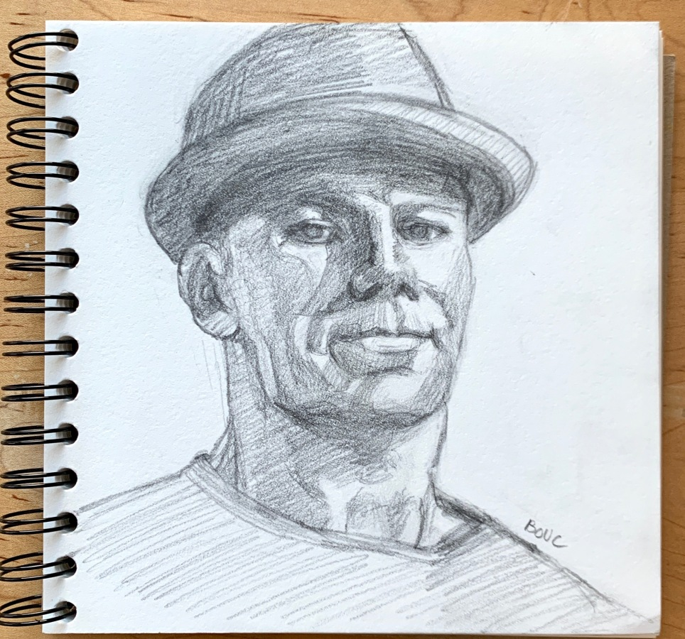 """Facebook """"People You May Know #2"""", graphite, 7x7 inches"""