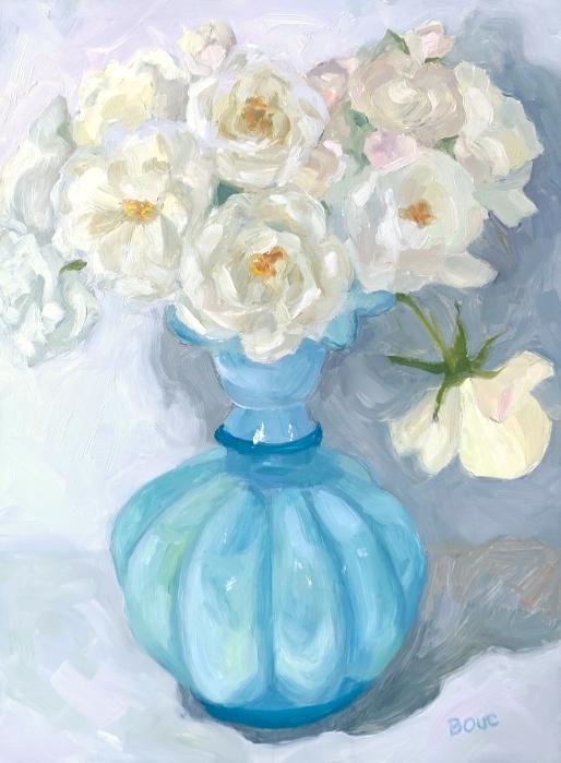 Day 3: Finishing vase, adding finishing touches to background and flowers