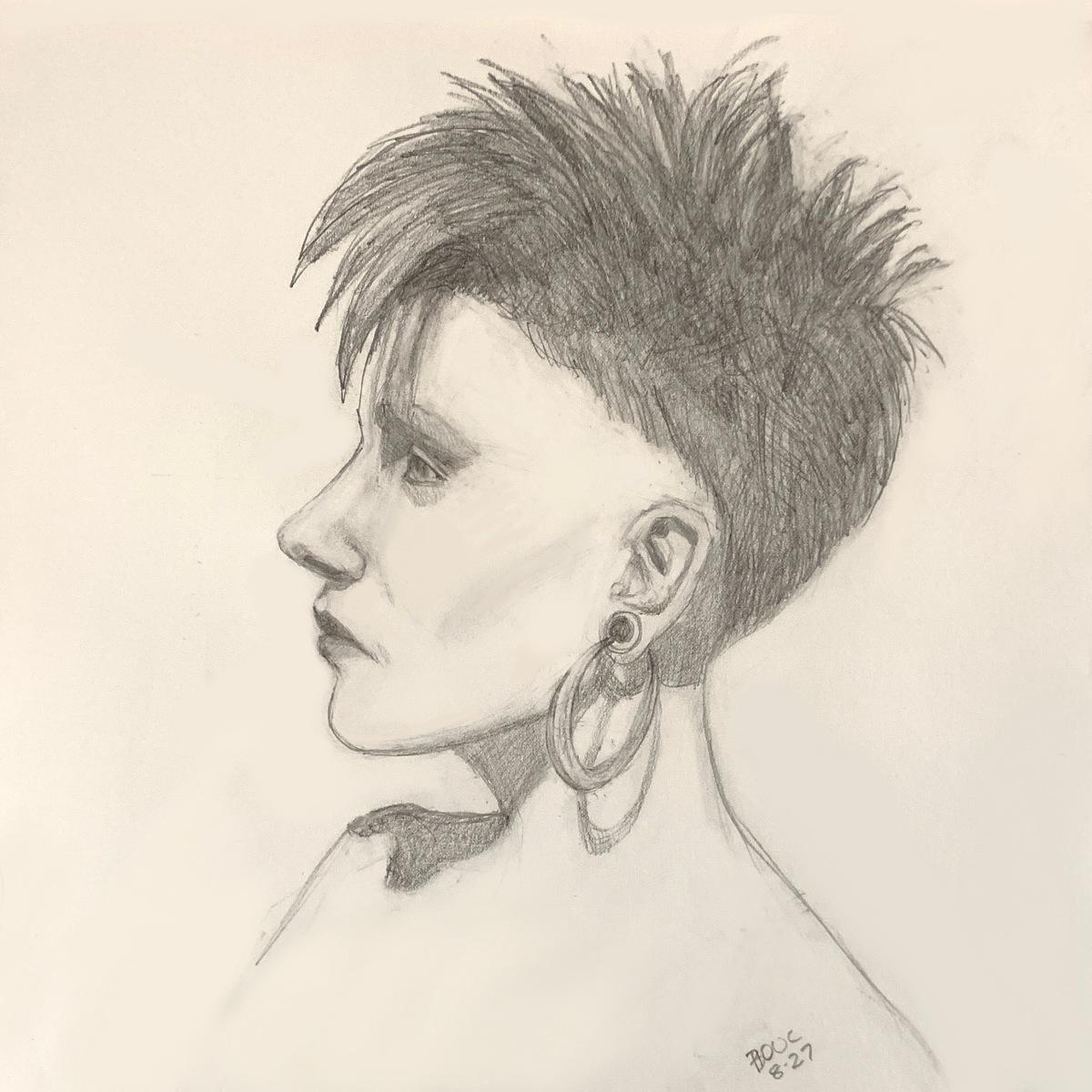 "Christiane Vex, Sktchy, graphite 10x10"""