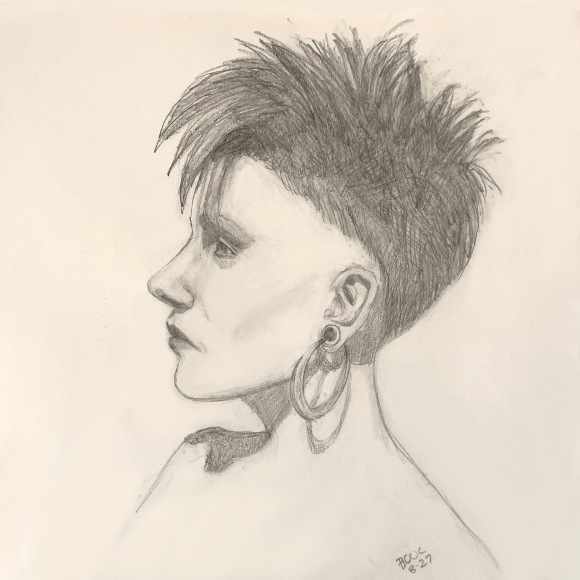 Christiane Vex, Sktchy, graphite 10x10""