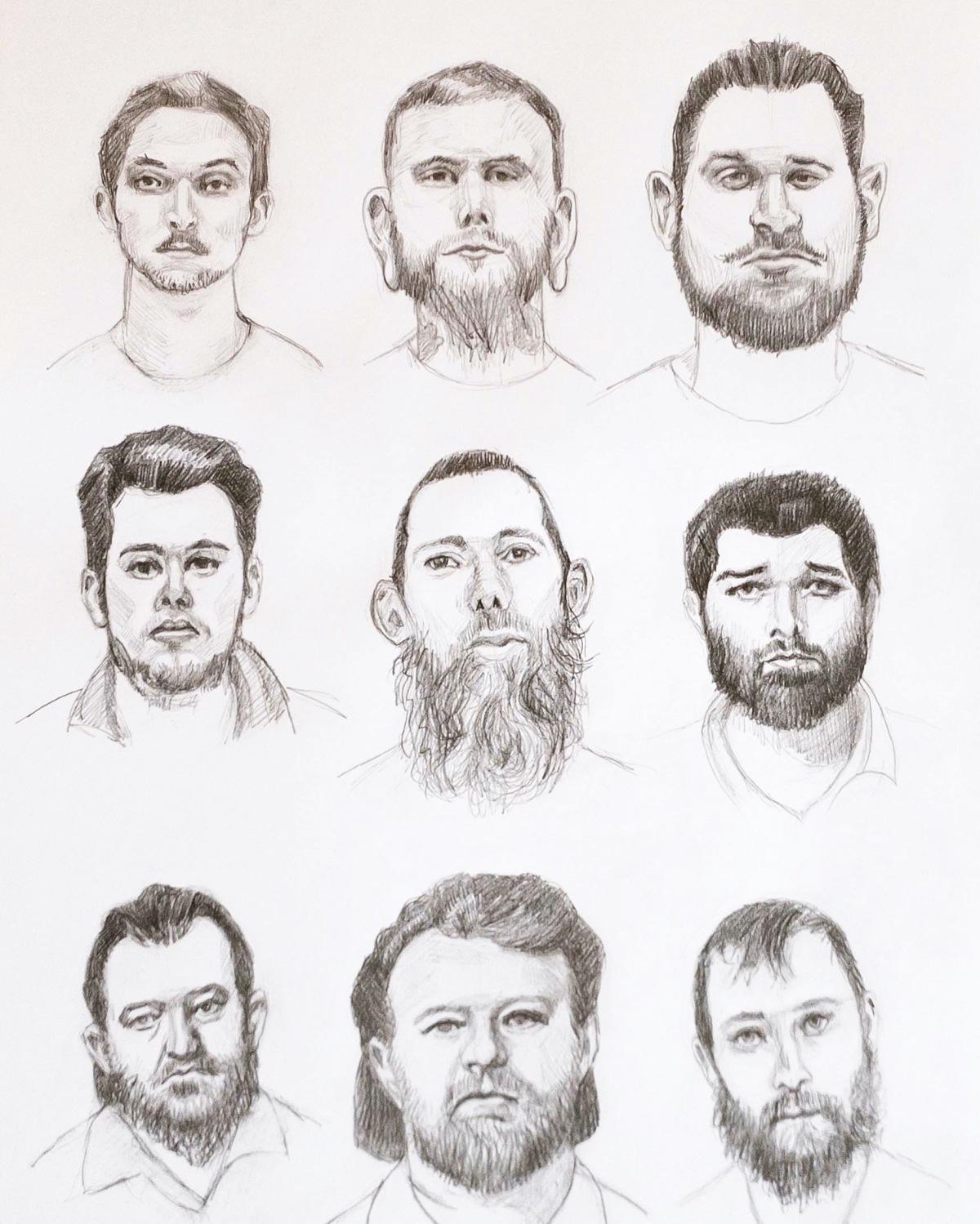 Michigan Moron Kidnappers Mugshot sketches