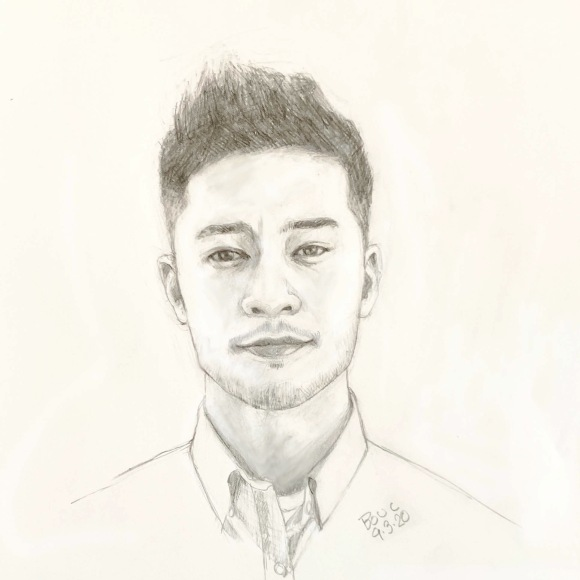 """Sketch #1 of TJ Smith from Sktchy, graphite, 12x9"""""""