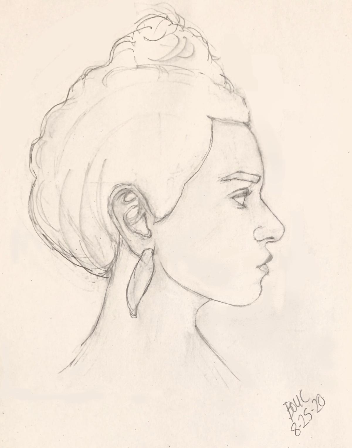 Portrait Sketch in Graphite of Raquel C from Sktchy