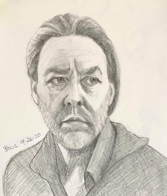 """Actor portrait sketch #3 from """"The Twelve"""" Belgian TV Series"""