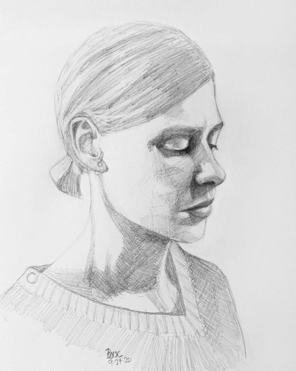 """Actor portrait sketch #2 from """"The Twelve"""" Belgian TV Series"""