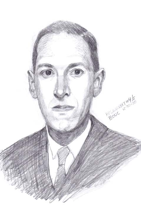 HP Lovecraft #4-2, graphite on paper, 11x8""