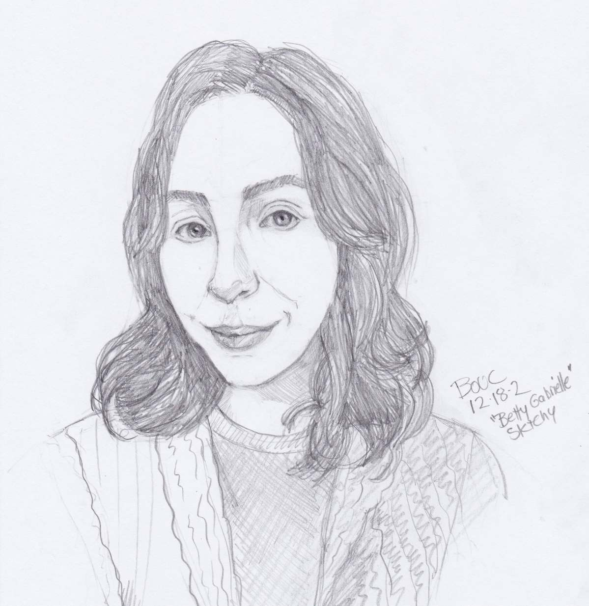 Quick Sketch of Bette G. from Sktchy, graphite